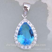 Collier de déclaration de mode en cristal professionnel de larme pour les femmes Les bijoux plaqués par rhodium est votre bon choix