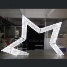 3D LED Christmas Ornaments Acrílico Star Motif Lights