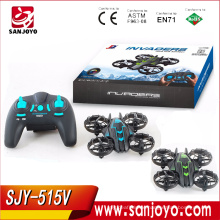 New Arriving toys SJY-515V HD Camera 3D rolling Drone Quadcopter With Headless Mode