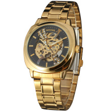 golden mechanical watch wholesale with diamond master dial