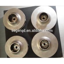processus de moulage en sable de roue de pompe à eau de fer d'acier