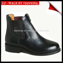 Botas de montar de cuero genuino con laterales elásticos