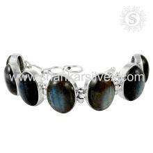 Scrumptious labradorite gemstone silver bracelet 925 sterling silver handmade jewellery manufacturing