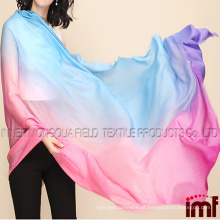 Mulheres Padrão Impressão Oversize 100% Lenço de lã