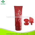 Cosmetic Packaging 120ml Red Oval Tube For Whitening Cream
