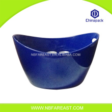 Deep blue boat shape ice wine bucket