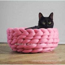 Accesorios para mascotas Hand Knit Pet Dog Bed Mat Factory