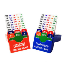 Customizsed Bidding Cards Set for Bridge Clubs
