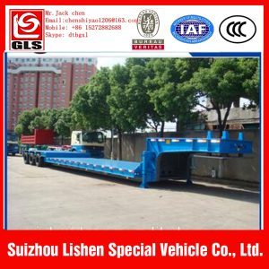 3 axle used low bed trailer