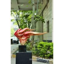 modern abstract resin sculpture