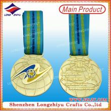 Medalla de metal conmemorativa de campeón de oro de premio