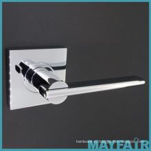 Chrome Modern Zinc Alloy Metal Door Lever Handles