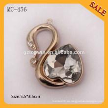 MC456 2015 Moda diamante metal colgar etiqueta para pulsera