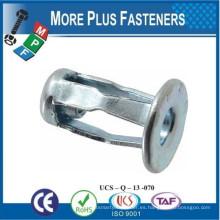 Hecho en Taiwán Jack Nut sólido latón paquete de acero inoxidable Zinc Grip