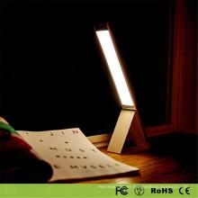 Lámpara de mesa moderna del cuero del espejo 2017 para la iluminación de la cabecera de la sala de estar