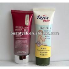 Plástico espremer tubo plano para embalagem de cosméticos