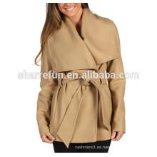 fábrica personalizar y venta al por mayor coreano señoras abrigo de lana