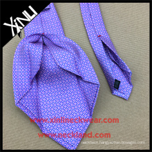 Men Private Label Custom Print Silk Ties Seven Fold Neckties