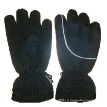 NMSAFETY noir imperméable à l'eau en tissu motobike gants d'hiver