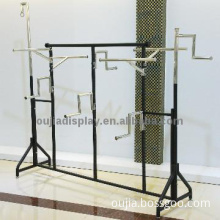 adjustable clothes stand/garment retail shelf/clothing shopfitting