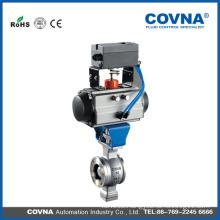 V type flange pneumatic ball valve
