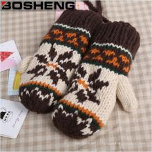 Женские супер толстые теплые трикотажные перчатки Mitten