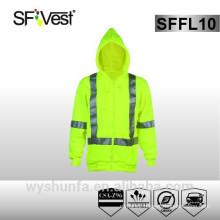 CSA Z96-09 High Visibility Reflective Clothing Sweatshirt With Hood