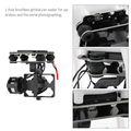 Drone Parts 2 Gimbal Brushless Axis per Gopro