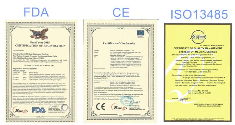 Certificate-CE, FDA, ISO