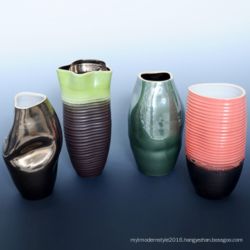 Colorful Wholesale for Home Decoratioin Flower Plant Vases (A08056)