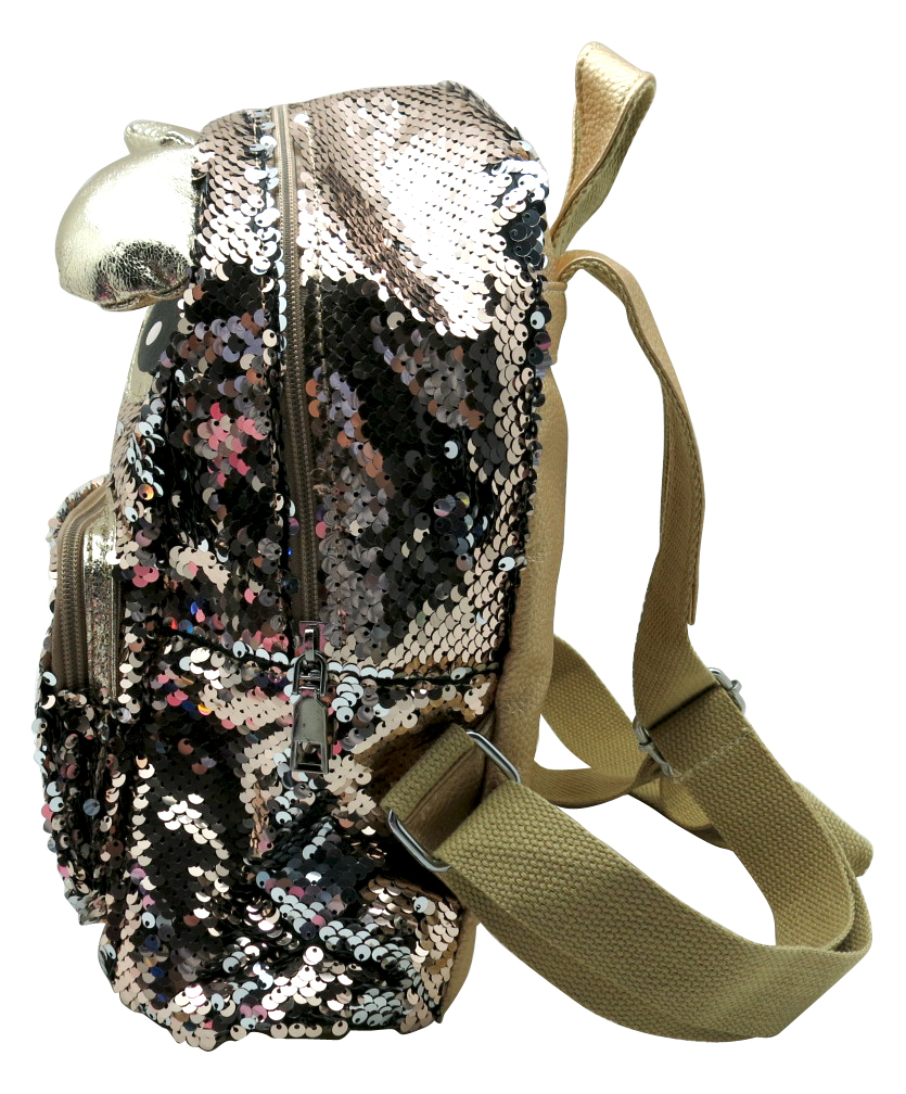 Bear Sequin Backpack 1