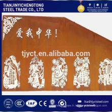 plaque d'acier patinable corten A corten B pour la décoration utilisée