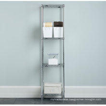 Stainless Steel Bathroom Corner Storage Wire Rack (CJ3535160A4C)