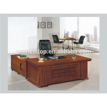 Modern wooden desk design, Walnut venner upholstery office desk (A-21)