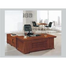 Современный деревянный дизайн стола, офисный столик обивки из орехового дерева (A-21)