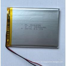 3.7V 3600mAh Li-Polímero de la batería de litio-polímero de la batería 506890