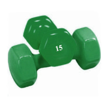 15 LB de vinil Hex Dumbbell