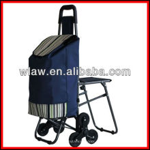 Прачечная на трех колесах корзина со стулом