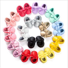 Handmade Soft Bottom Bow Gold Tassel Toddler Pu Casual Shoes 2016