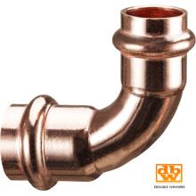 Tubo de encaixe de pressão de cobre 22 mm X 90 Contour V