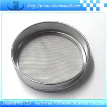 Tamiz de muestra utilizado en polvo