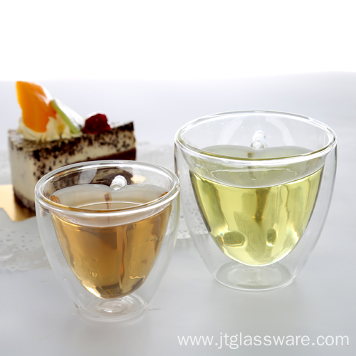Double Wall Heat Resistant Glass Cup for Coffee