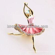 Ballet chica en forma de joyería broche de China Yiwu mercado