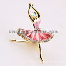 Ballet girl shaped brooch jewelry from China Yiwu Market