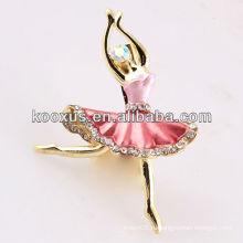 Балетная девушка в форме броши ювелирные изделия из Китая Yiwu рынка
