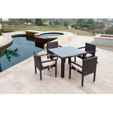muebles del patio al aire libre de China 100 cm x 100 cm mesa con 4 sillas