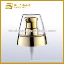Pompe à lotions en plastique à revêtement UV avec AS overcap / 20mm pompe à crème / distributeur de pompe à revêtement uv avec AS overcap