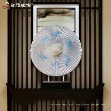 Decoração de decoração interior escultura abstrata para escritório