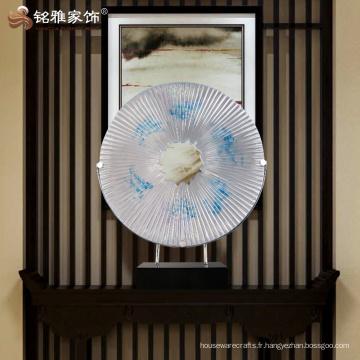 Intérieur décoration ronde sculpture abstraite pour bureau
