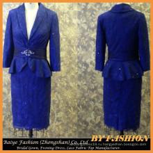 Леди платье формальный синий мать невесты платье фото повседневные платья для Леди бай-14101